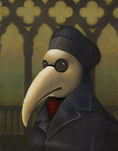 Plague Doctor Print - Venetian Mask - Gothic Print - Medieval Venice - Steampunk - Bird Mask - Commedia dell'Arte - Black (Commedia Dellarte Mask)