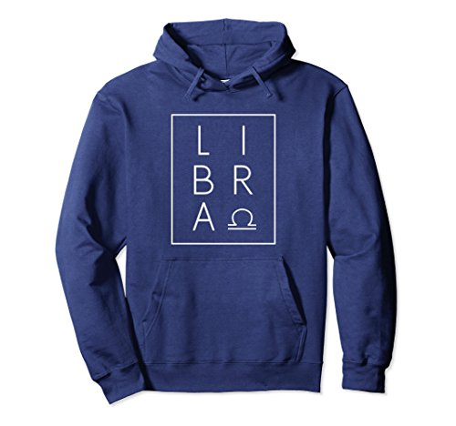 Unisex Libra Hoodie Sweatshirt Zodiac Sign Astrology Birthday 2XL Navy