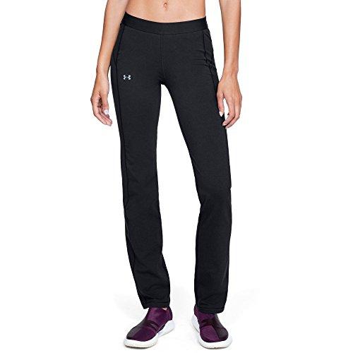 Under Armour Women's Favorite Straight Leg Pants, Black (001)/Tonal, Medium