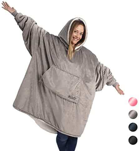 The Comfy The Blanket… That's a Sweatshirt, One Size Fits Most, Soft Snuggly and Comfortable Blanket Sweatshirt Originally Featured on Shark Tank, Grey Color