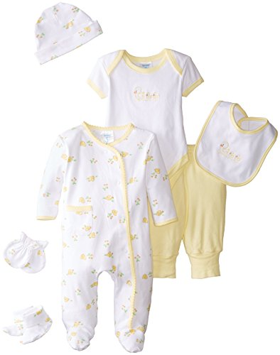 Unisex Layette (Spasilk Baby Newborn 7 Piece Baby Layette Gift Set, Unisex, Yellow, 0-6)