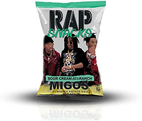 Rap Snacks Migos Sour Cream with a Dab of Ranch Potato Chips 2 75 oz Bag