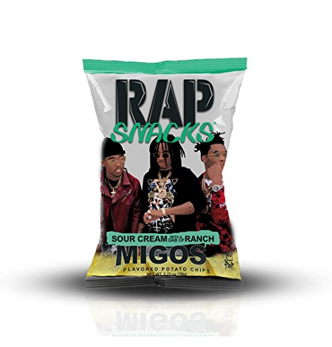 Amazon Com Rap Snacks Potato Chips 2 75 Oz Bags Migos Sour Cream Dab Of Ranch 1 Pack