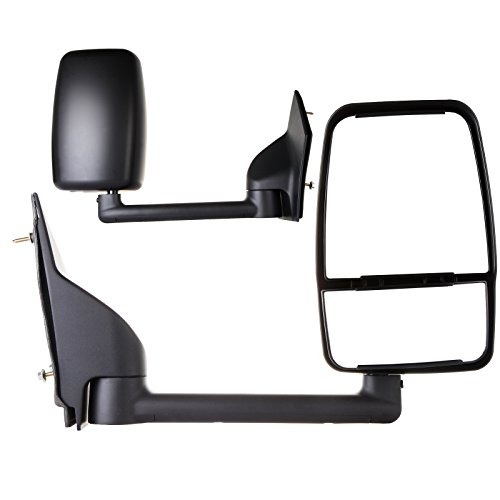 SCITOO For 2003-2011 Chevrolet/Chevy/GMC Express Savana Van 1500/2500/3500/4500 Manual Paddle Type Folding Smooth Black Rear View Mirror Right Passenger Side (Van Passenger Savana Gmc)