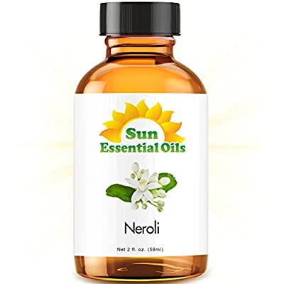 Neroli (2 fl oz) Best Essential Oil - 2 ounces (59ml) by Sun Organic