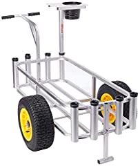 The Fish-N-Mate 143 Sr Cart weighs only 24.7-pounds including all components. It has corrosion resistant aluminum tubing construction, designed for strength capable of carrying up to 200-pounds. The lightweight aluminum construction and desig...