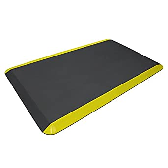 """Black High Traction Commercial Surface with /¾/"""" polyurethane foam for health /& wellness 20x32 NewLife Eco-Pro by GelPro Anti-Fatigue Stand Desk and Comfort Work Floor Mat"""