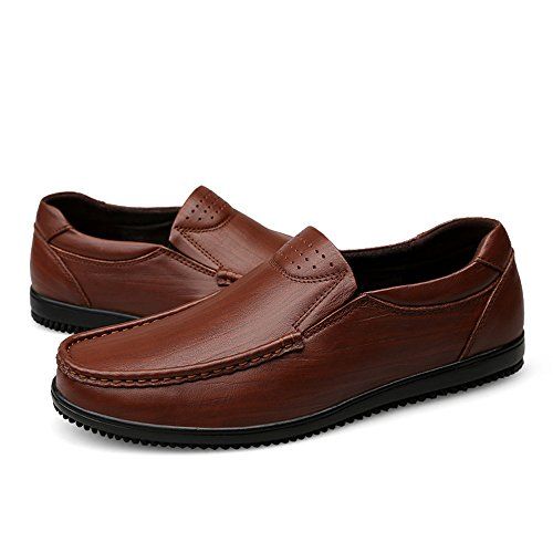 piatta Formal uomo leggero Tacco da Xiazhi a Tacco piatto Mocassino Slip Loafer shoes on a spillo Business spillo Vacchetta anxwqwv4