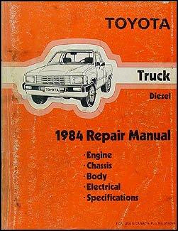 1984 Toyota Pickup Truck Repair Shop Manual Original Diesel