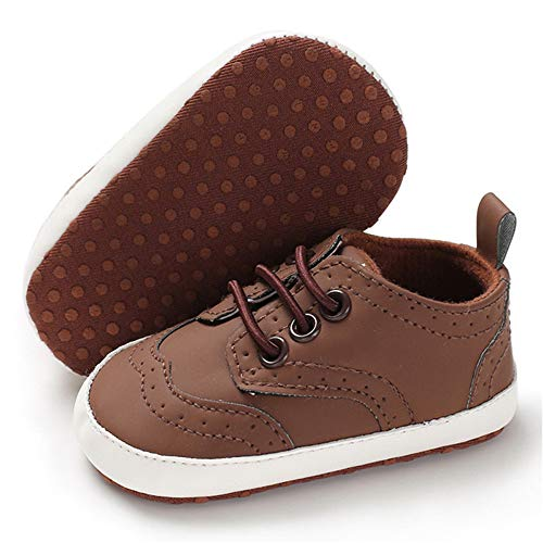 Baby Boys Girls Shoes Toddler Sneaker Soft Sole Infant Newborn First Walkers Prewalker Crib Shoes(12-18 Months M US Infant,Brown) ()