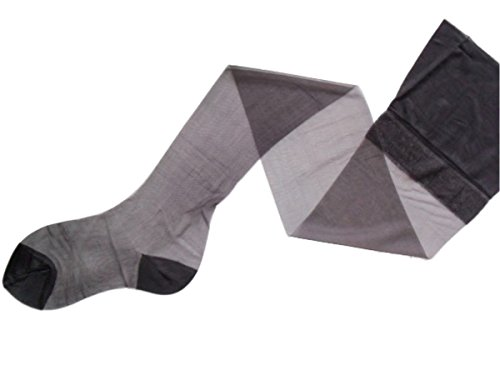 Premier Hosiery 'Genuine Vintage' 1970's Reinforced Heel & Toe Stockings in Silver/Grey (PLRHT)