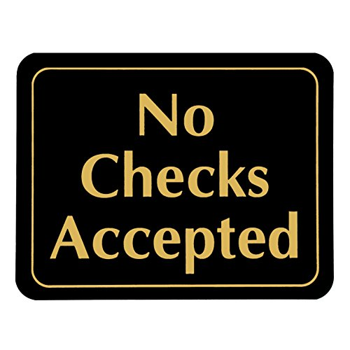 No Checks Accepted ~ Retail Store Policy Business - Policy Store