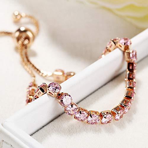 GSusan Bracelet de Tennis en Réglable Femmes Bracelet Bracelet en Cristal de Zircon Cadeau pour Femme Fille