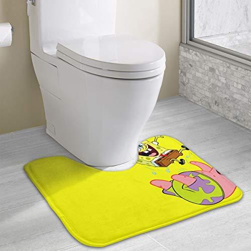 (Contour Bath Rug Spongebob Squarepants U-Shaped Toilet Floor Rug Shower Mat Non Slip Bathroom Carpet 19.3