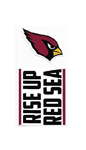 NFL Arizona Cardinals Double Up Die Cut 2-Piece Sticker Sheet