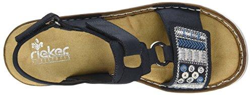 Rieker Sandalen Damen Pazifik Blau Geschlossene 600d8 fFvxSwq1f