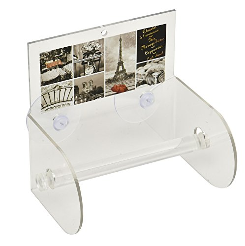- EVIDECO 6704417 Cafe Paris Bathroom Toilet Tissue Paper One Roll Holder Suction Mounted