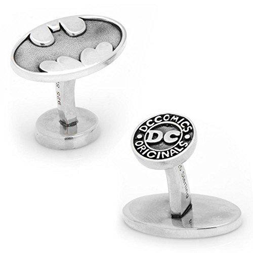 Sterling Silver Batman Logo Cufflinks Officially Licensed
