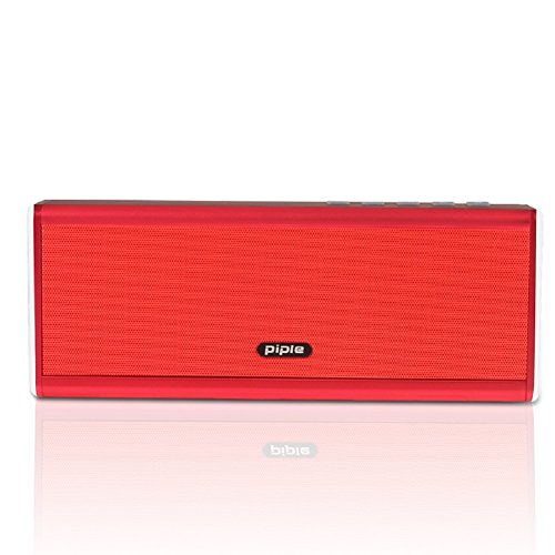 Ultra Bass Portable Bluetooth Dual Speakers (Red) Set Of 4 - 5