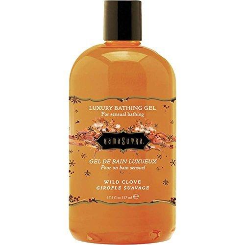Kama Sutra Luxury Bathing Gel, Wild Clove, 17.5 Fluid Ounce - Kama Sutra Luxury Bath Gel