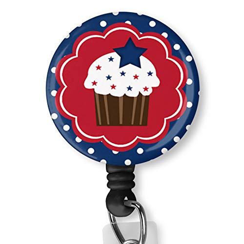 Cake Icecream ワニ口クリップ付き 看護師バッジIDカード ネームタグ カスタムバッジホルダー 看護師用装飾バッジリール クリップオンカードホルダー バッジクリップ B07LF7HKPW