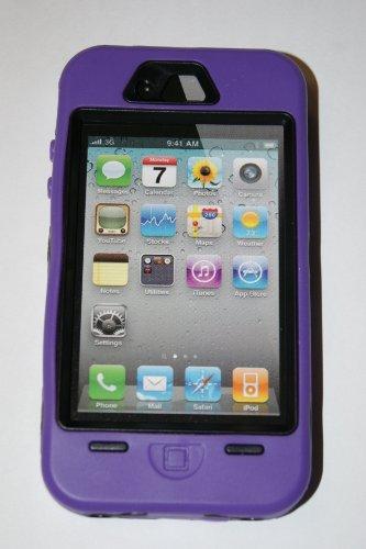 Iphone 4/4s Body Armor Defender Case Black on (Iphone 4s Case Body Armor)