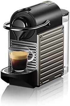 Krups Nespresso XN304TK Pixie – Macchina per caffè Espresso, Ricette Programmabili, 1260 W, Titan, 0.7 Litri