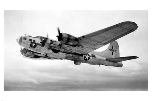 HSE Boeing B17 FLYING FORTRESS USA poster 36x24 Bomber WW2 vintage photo RARE (Photo Rare Vintage)
