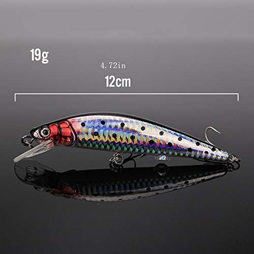 Nihlsfen Electric Vibration Twitching Fishing Lures USB Rechargeable LED Lure Wobblers Lifelike Hard Baits Minnow Bait
