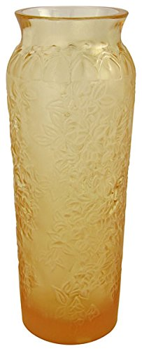 Lalique Bougainvillier Blossom Bud Gold Crystal Vase 12497 (Crystal Lalique Vase)