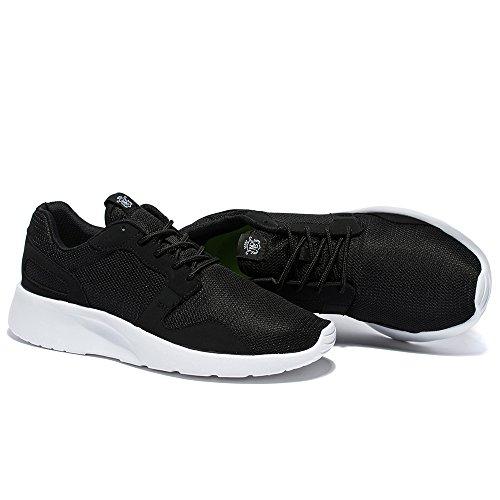NeedBo Herren und Damen Unisex Runnning Schuhe Leichte Flexible Athletic Sneakers Sport Trail Schuh Schwarz
