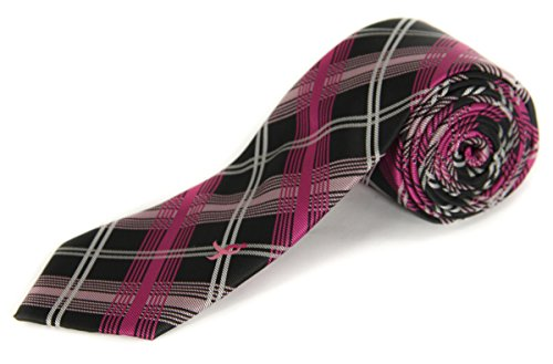Susan G. Komen Knots for Hope with Ribbon Neck Tie Pink Black O/s