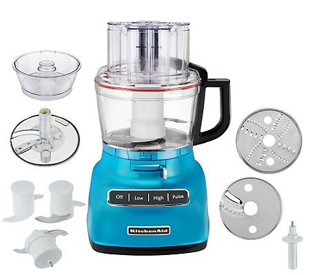 (KitchenAid KFP0930CL 9-Cup Food Processor with Exact Slice System and French Fry Disc - Crystal Blue )