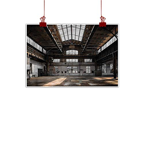 Mangooly Canvas Wall Art Industrial,Old Hangar 36