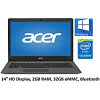 Acer Aspire One Cloudbook 14 Laptop PC, Intel Celeron Dual Core Processor, 2GB DDR3L Memory, 32GB eMMC, Webcam, HDMI, 802.11ac WIFI, Bluetooth, Windows 10 (Certified Refurbished)
