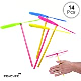 EevOveE  14pcs Plastic Dragonfly Color Flying Toy for Kids