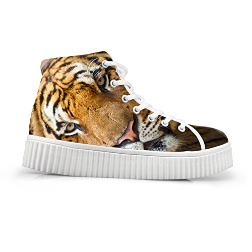 Animal Cute HUGSIDEA Printing Shoes Sneakers Platform Fashion Tiger PCwzpq