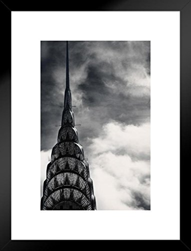 Poster Foundry The Chrysler Building Close Up Photo Art Print Matted Framed Wall Art 20x26 inch