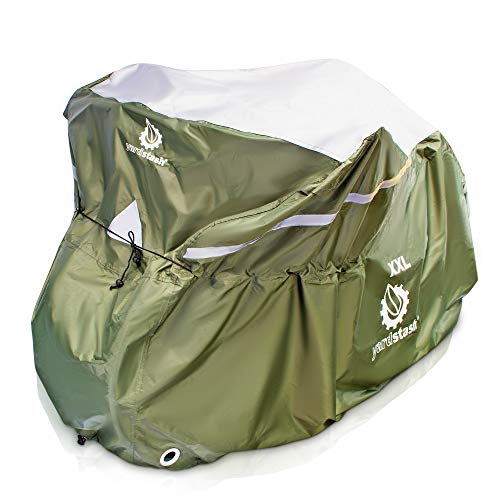 YardStash Bicycle Cover XXL for 2-3 Bikes and Trikes: Cover for 3 Bikes, Trike Cover, Beach Cruiser Cover, 29er Bike Cover, Electric Bike Cover & Cover for Bikes w/Baskets or Racks by YardStash
