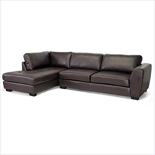 Baxton Studio Orland Bonded Leather Sectional & Chaise-Loung
