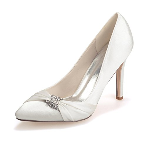 Toe shoes Ellenhouse EH025 Heel Stiletto Womens Pointed Ivory Rhinestone Crystal Pumps qxxSOBTR