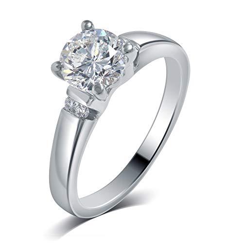 La4ve Diamonds 1/2 Carat Diamond Solitaire Engagement Ring in 14K White Gold (Colour - H-I) (Clarity - SI1) ()