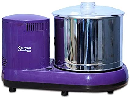 Suryaa Smart Kitchen Wet Grinder Table top 2 litres (Rice Batter Maker with Coconut Scraper and Atta Kneader)