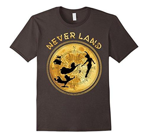 Disney Peter Pan Flying Never Land Compass Graphic T-Shirt