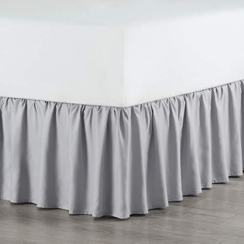 Martex Ruffle Bed Skirt, Queen, Light Gray (Queen Gray Ruffle Dust)