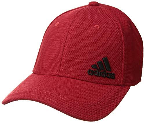 adidas Men's Release Stretch Fit Structured Cap, scarlet/black, S/M ()
