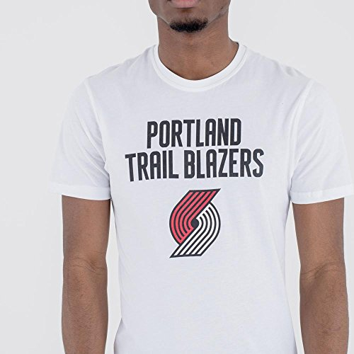 T Xxl Men L Nba M New Era Xl Team Blanc Blazers T White Portland Tee Trai Logo shirt 7Rza4q