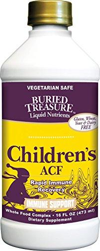 Un Trésor enfoui Enfants ACF Rapide du système Immunitaire Mélange à base de plantes avec de la Vitamine C, le Sureau, la Enchinacea 16 oz