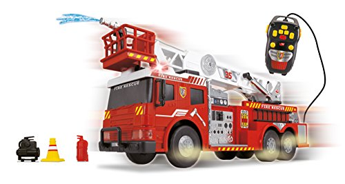 Dickie Toys 24' Remote Control Light and Sound Fire Rescue Vehicle (With Working Pump)