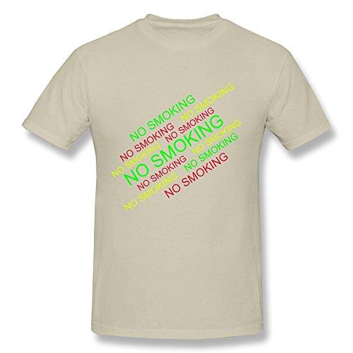 SNOWANG Men's No Smoking T-shirt L